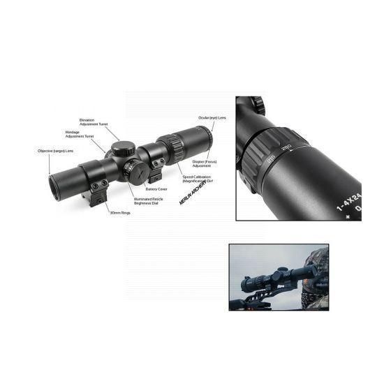 TRUGLO Opti Speed Velocity Crossbow Sight - X1-4x24