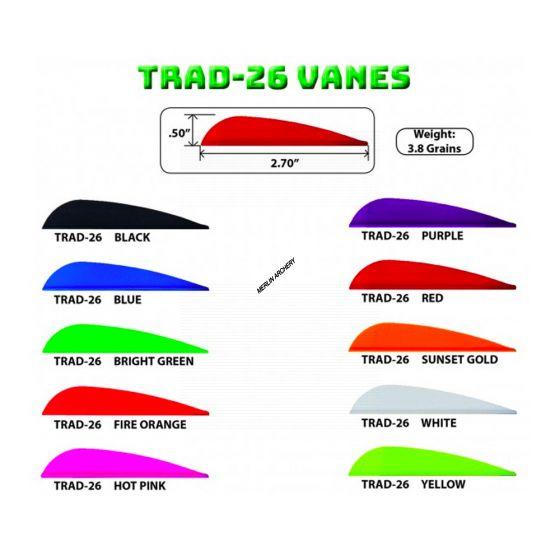 """AAE Arizona Trad-26 Vanes - 2.7"""""""
