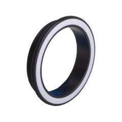 Shrewd Metal Decal Ring
