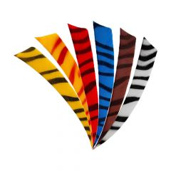 """Bearpaw Feathers RW 5"""" Shield - Zebra"""
