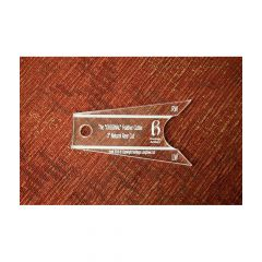 Heritage Feather Cutting Template - Natural