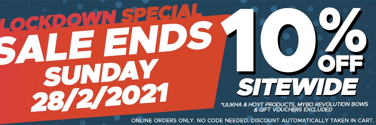 Lockdown Special - 10% Off Sitewide