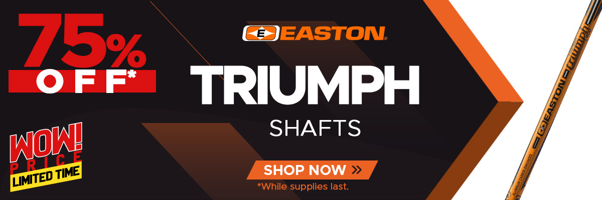 Weekly Wow - Easton Triumph Shafts 75% Off
