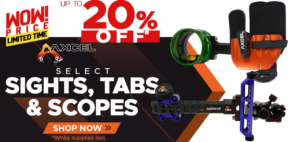 Select Axcel Sights, Tabs & Scopes - Up To 20% Off