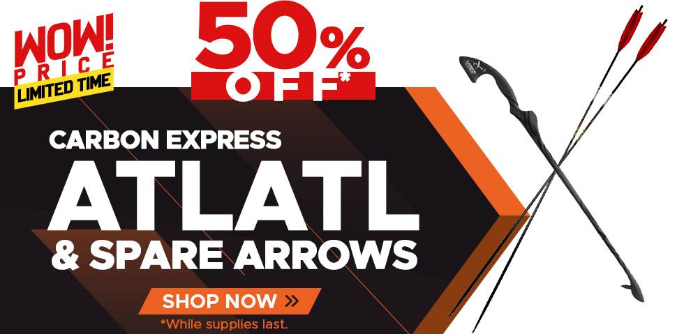 Carbon Express Atlatl and Arrows - 50% Off