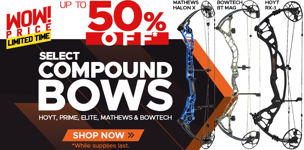Select Compound Bows - Up To 50% Off