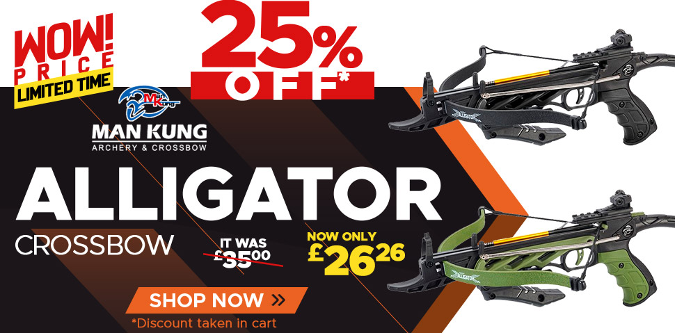 Man-Kung Alligator Crossbow - 25% Off
