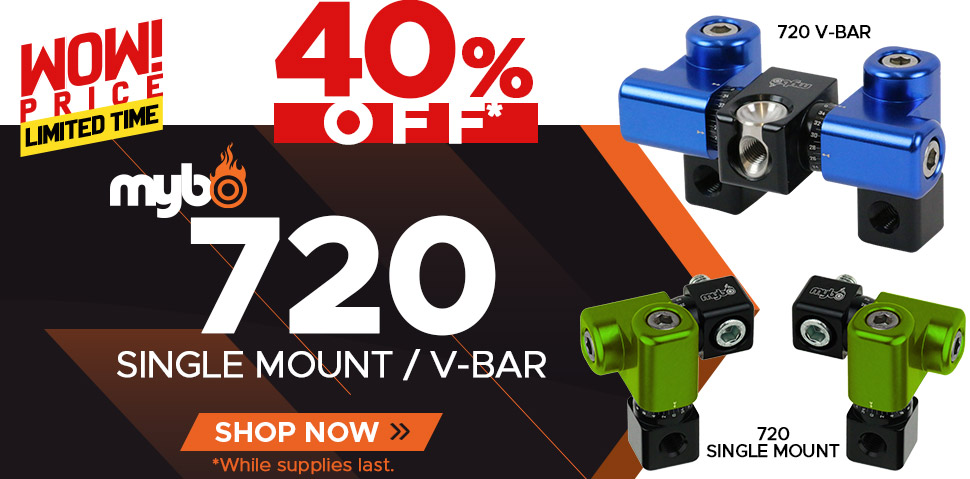 Mybo 720 - Single Mount & V-Bar - 40% Off