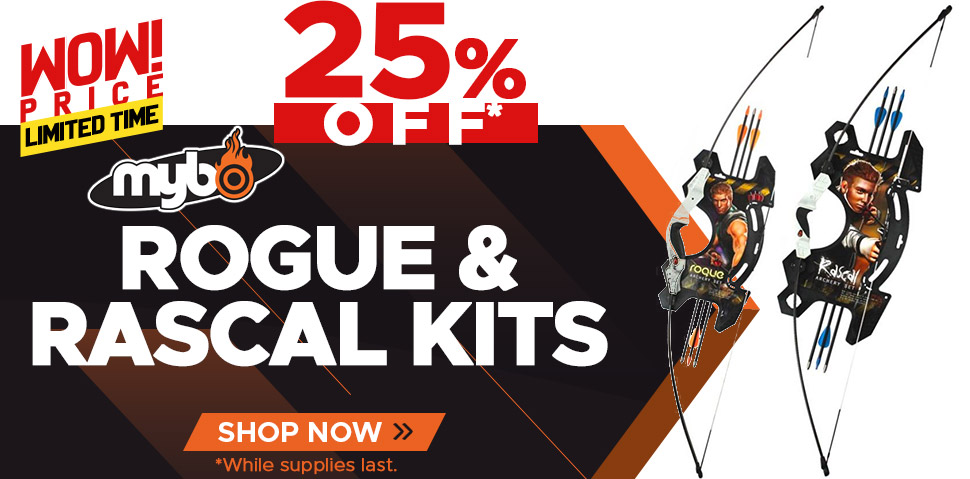Mybo Rogue & Rascal Archery Kits - 25% Off