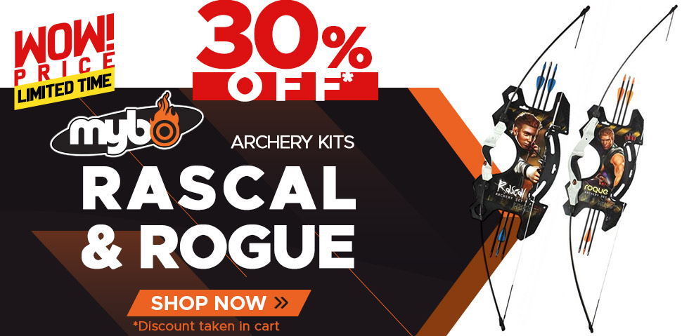 Mybo Rogue and Rascal Archery Kits - 30% Off