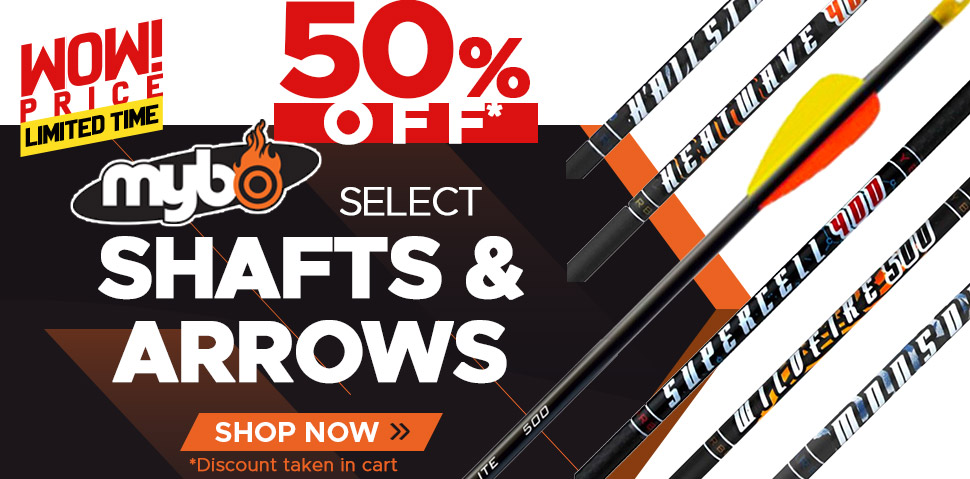 Mybo Select Shafts & Arrows - 50% Off