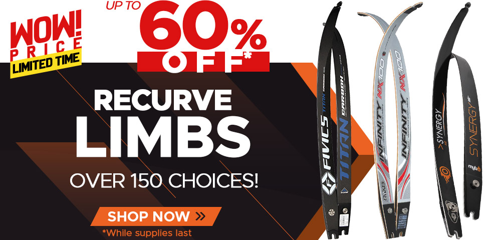 Recurve Limbs Up To 60% Off