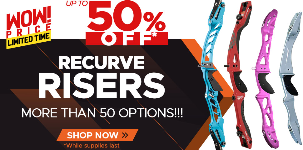 Recurve Risers Up To 50% Off