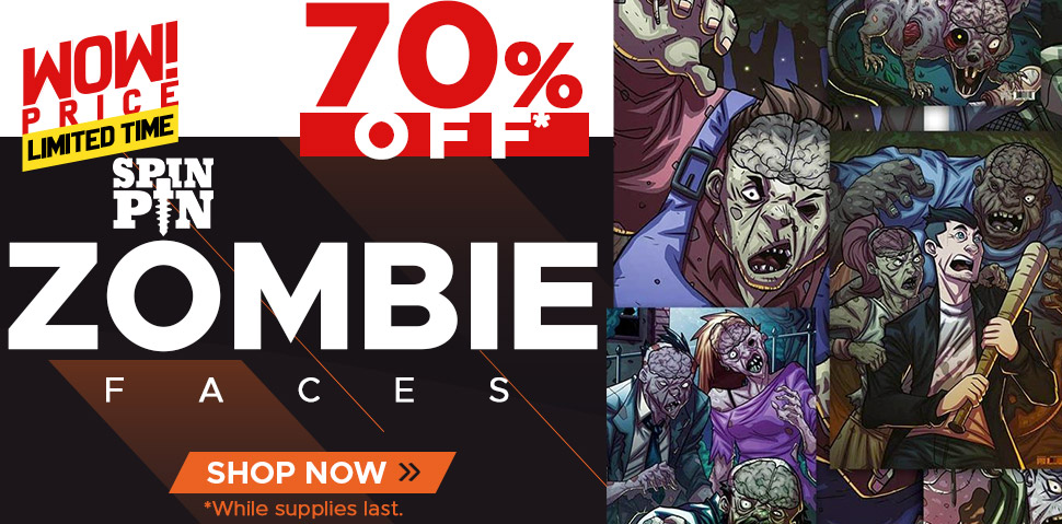 SpinPin Zombie Faces - 70% Off